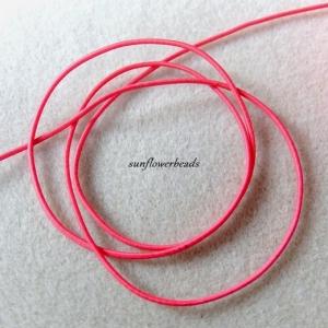 3 m Gummiband, Rundgummi, pink, 1,5 mm Durchmesser   - Handarbeit kaufen