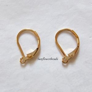 3 Paar Ohrbrisuren aus Edelstahl - gold, zur eigenen kreativen Schmuckgestaltung  - Handarbeit kaufen