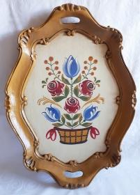 Tablett aus Holz handbemalt im Bauernmalerei- und Landhaus-Stil -Deutsche Handarbeit- **Versandkostenfrei*** - Handarbeit kaufen