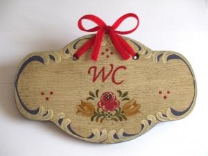 Türschild aus Holz, mit Wunschbeschriftung, handbemalt im Bauernmalerei- und Landhaus-Stil -Deutsche Handarbeit-   ***Versandkostenfrei***      - Handarbeit kaufen