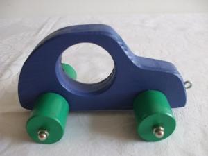 Spielzeugauto aus Holz zum Nachziehen und Schieben -Deutsche Handarbeit-