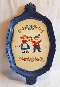 Tablett aus Holz handbemalt im Bauernmalerei- und Landhaus-Stil -Deutsche Handarbeit- ***Versandkostenfrei***