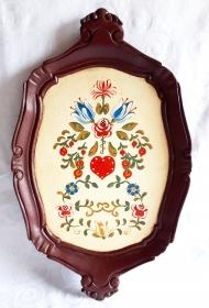 Tablett aus Holz handbemalt im Bauernmalerei- und Landhaus-Stil -Deutsche Handarbeit- ***Versandkostenfrei***  - Handarbeit kaufen