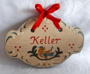Türschild aus Holz handbemalt im Bauernmalerei- und Landhaus-Stil -Deutsche Handarbeit- m  ***Versandkostenfrei***             - Handarbeit kaufen