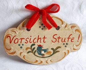 Türschild aus Holz handbemalt im Bauernmalerei- und Landhaus-Stil -Deutsche Handarbeit-   ***Versandkostenfrei***               - Handarbeit kaufen
