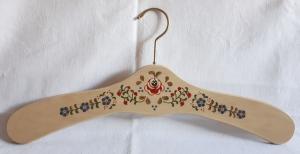 Kleiderbügel/Garderobenbügel aus Holz -1 Stück, handbemalt im Bauernmalerei- und Landhausstil -Deutsche Handarbeit-     - Handarbeit kaufen