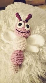 Wunderschöner gehäkelter Schmetterling für kleine Babyhände, Babygreifling mit Sicherheitsaugen, Individualisierbar