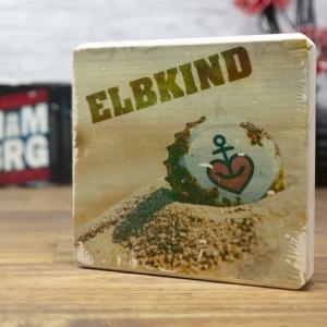 Elbkind - elbPLANKE® | 10x10 cm | Holzbilder von Fotoart-Hamburg