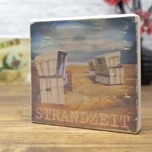 Strandzeit - elbPLANKE® | 10x10 cm