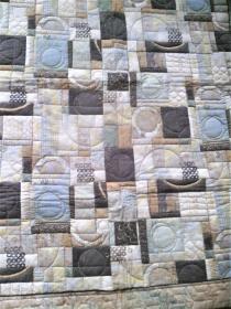 Quiltdecke  aus Baumwollstoffen -  handgequiltet -  Einzelstück  - Handarbeit kaufen