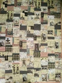Quiltdecke  aus Baumwollstoffen -  handgequiltet -  Einzelstück