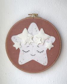 Zwillinge Sternzeichen ★ Stickrahmen ★ Zodiac ★ Geschenk zur Geburt ★ Kinderzimmer ★ Wanddeko ★ Plastikfrei