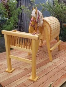 Holzpferd für denn Garten