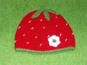 Mütze - Erdbeere -42cm - Handarbeit kaufen