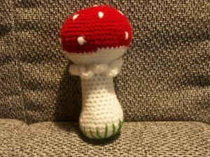 Babyrassel - Pilz - Handarbeit kaufen