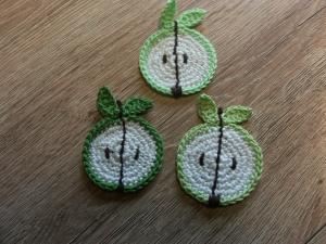 3er- Applikation - Apfel - Handarbeit kaufen