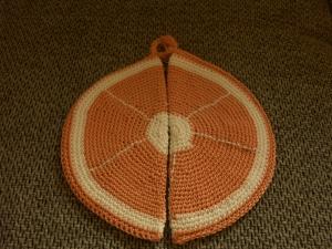 Topflappen Orange - Handarbeit kaufen