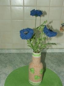 Vase mit 3 Kornblumen - Handarbeit kaufen