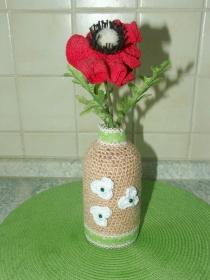 Vase mit 1er Mohnblumen - Handarbeit kaufen