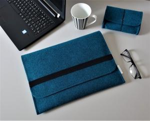 Laptoptasche aus Filz personalisierbar in Größe & Farbe - 12 Zoll 13 Zoll 14 Zoll Mac Book Surface Laptop Hülle Case mit Zubehörtasche