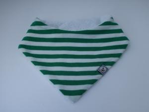 Wendehalstuch gestreift Baby Dreieckstuch Jersey und Frottee, besonders saugfähig - kleines Geschenk zur Geburt - Handarbeit kaufen