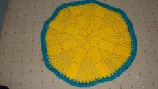 Tischdecke Häkeldecke Decke rund Handarbeit