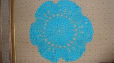 Tischdecke Häkeldecke rund Decke Handarbeit