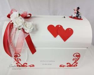 Briefbox Hochzeit BIKER MOTORRAD rot Geschenkbox