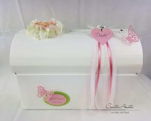 Briefbox Hochzeit Geschenkbox Truhe HORTENSIE ROSA