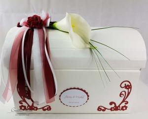 Briefbox Hochzeit Geschenkbox CALLA+ROSE BORDEAUX