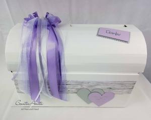 Briefbox Hochzeit Geschenkbox Truhe SHABBY FLIEDER
