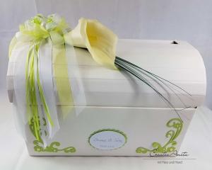 Briefbox Truhe CALLA MAIGRÜN Hochzeit Geschenkbox