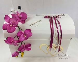 Briefbox Hochzeit Geschenkbox Truhe ORCHIDEE BEERE