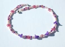 Kinder Halskette mit BLÜTENKELCHEN lila