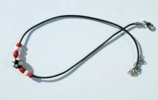 Halskette für Fußball-Fans rot-weiß