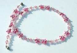 Kinder-Kette BLÜTENSTERNCHEN rosa - Handarbeit kaufen