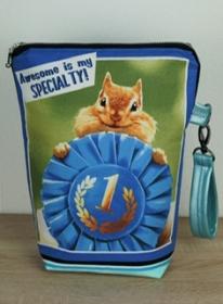 Projekttasche für deine Handarbeitsprojekte mit tierischem Motiv - Handarbeit kaufen