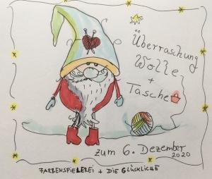 Nikolaus-Wichtel-Überraschung-Farbenspielerei-Die Glückliche