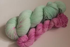 Handgefärbte Luxus(Socken-)Wolle Set ZH1S von Farbenspielerei
