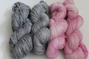 Handgefärbte Wolle Merino-Seide-Ramie Set PP6S von Farbenspielerei
