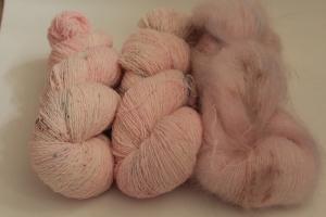 Handgefärbte Wolle Merino-Lacegarn und Mohair SBb/SB1S von Farbenspielerei für Elton, Birds of a Feather, ...