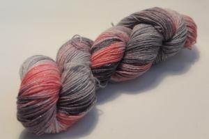 Handgefärbte Glitzer-Sockenwolle 4-fädig 19/20 von Farbenspielerei - Weihnachtssonderedition -