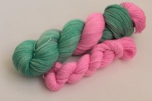 Handgefärbte klassische Sockenwolle 4-fädig Set O-20/4 von Farbenspielerei - Ostersonderedition -