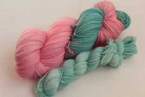 Handgefärbte Luxus-Sockenwolle Set O-20/13 von Farbenspielerei - Ostersonderedition -
