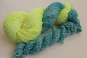 Handgefärbte Luxus-Sockenwolle Set O-20/15 von Farbenspielerei - Ostersonderedition -