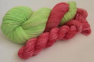 Handgefärbte Glitzer-Sockenwolle 4-fädig Set O-20/19 von Farbenspielerei - Ostersonderedition -