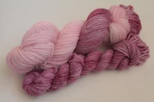 Handgefärbte Glitzer-Sockenwolle 4-fädig Set O-20/21 von Farbenspielerei - Ostersonderedition -