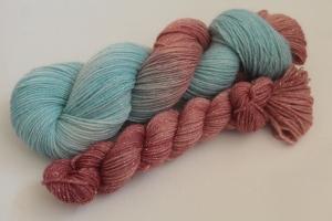 Handgefärbte Glitzer-Sockenwolle 4-fädig Set O-20/22 von Farbenspielerei - Ostersonderedition -