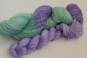 Handgefärbte Glitzer-Sockenwolle 4-fädig Set O-20/23 von Farbenspielerei - Ostersonderedition -