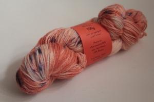 Handgefärbte Wolle Chubut-Ramie Nr. 371 für Socken und mehr von Farbenspielerei